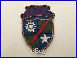 Pk134 Original WW2 US Army CBI 5307th Merrill's Marauders Mars Task Force WB10