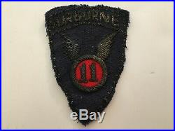 Pk159 Original WW2 US Army 11th Airborne Division Patch Bullion On Wool WA11