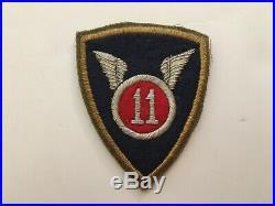 Pk162 Original WW2 US Army 11th Airborne Division Patch No Airborne Tab WA11