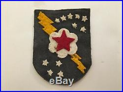 Pk171 Original WW2 US Army 4025th Signal Battalion Patch Markers Name Back WA11