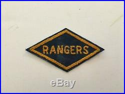 Pk190 Original WW2 US Army Rangers Patch Chain Stitch WA11