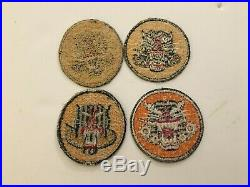 Pk207 Original WW2 US Army Tank Destroyer Forces Patches Set Of 4 WA10