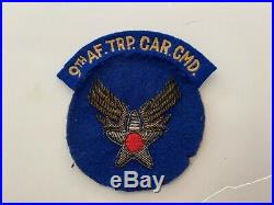 Pk406 Original WW2 US Army Air Force 9th Troop Carrier Command Patch WA8