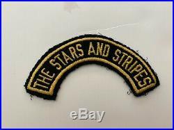 Pk410 Original WW2 US Army The Stars And Stripes Wool Tab WA8