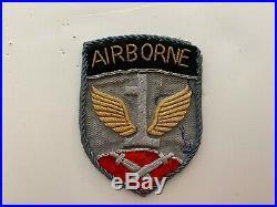 Pk443 Original WW2 US Army 1st Airborne Patch Bullion Made In Germany WA10
