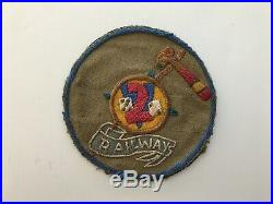 Pk44 Original WW2 US Army 752nd Railroad Operating Battalion Patch WC10
