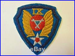 Pk457 Original WW2 US Army Air Force IX Engineer Command Patch Wool WA10