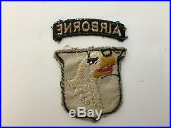 Pk48 Original WW2 US Army 101st Airborne Division Patch Set English Made WC10