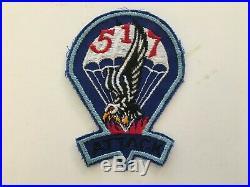 Pk56 Original WW2 US Army 517th Airborne Parachute Regiment Patch Blue WC11