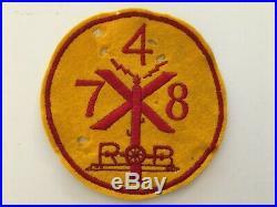 Pk58 Original WW2 US Army 748th Railroad Operating Battalion Moth Holes WC11