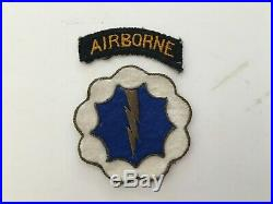 Pk64 Original WW2 US Army 9th Airborne Division Ghost Division Patch Set WC11