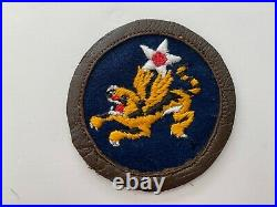 Pk672 Original WW2 US Army Air Force 14th Flying Tigers Leather Border WC10