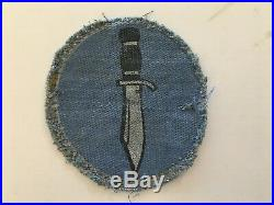 Pk78 Original WW2 US Army Kiska Task Force Printed Patch Small Rip WC11