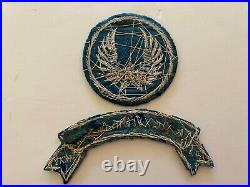 Pk903 Original WW2 US Army Air Force 1419th Air Transport Command Rome Patch L2A