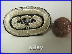 Post WWII US Army Airborne Medical Battalion with Embroidered Wings ET, Oval Patch
