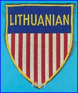 Post WW 2, Labor Serv. For a Lithuanian Working for US Army, FE, Mint Cond, #1