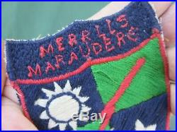 RARE! 100% ORIGINAL WWII US Army Merrill's Marauders theater made patch