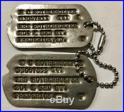 RARE Early WWII US Army 158th Regimental Combat Team Bushmaster Patch & Dogtags