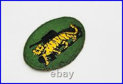 RARE Original WWII US Army 10th Armored Division TIGER PROFICIENCY Award Patch