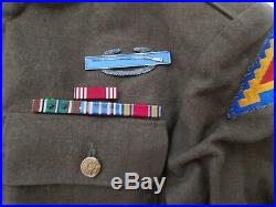 RARE WW2 Vintage US Army Dress Coat Jacket Patch Badge Insignia Military Clothes