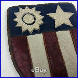 RARE WWII US Army CBI Bullion Leather Shoulder Patch China Burma India Theater