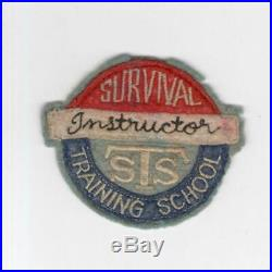 RARE WW 2 US Army Air Force Survival Training School Instructor Patch Inv# H741