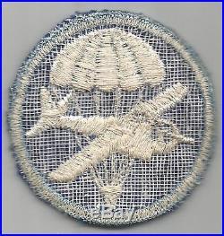 RARE WW 2 US Army Paraglider Glider Airborne Overseas Twill Cap Patch Inv# G047