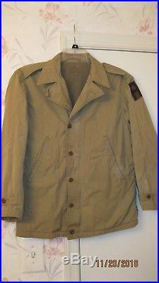 REPRO US Army WW2 M-1941 Poplin Field Jacket 36 Short with 1st Army Patch