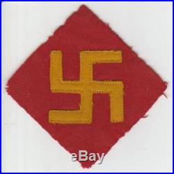Rare 1st Design WW 2 US Army 45th Infantry Division Wool Patch Inv# S365
