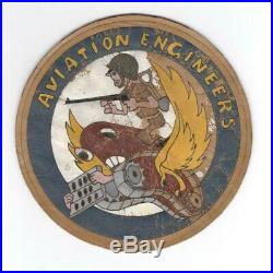Rare 5-1/4 WW 2 US Army Air Forces Aviation Engineers Leather Patch Inv# L255