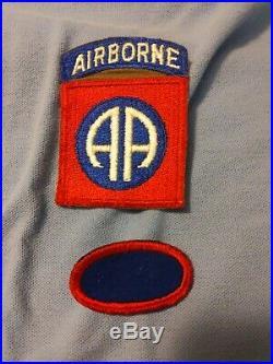 Rare British Made WW 2 US Army 82nd Airborne Division Silk Patch & Tab plus ova