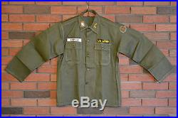 Rare Condition US Army Colonel Eagle Combat/Utility Shirt Patches Man Large