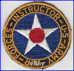 Rare Gemsco Pre WW 2 US Army Air Forces Instructor Patch Inv# S541