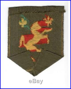 Rare Off Uniform WW 2 US Army 113th Cavalry Group Patch Inv# F956