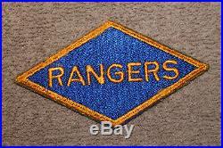 Rare Original WW2 U. S. Army Ranger Uniform Patch from Scrap Book