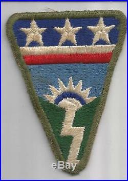 Rare RED Crossbar WW 2 US Army Ledo Road OD Border Patch Inv# F347