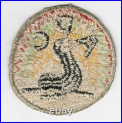 Rare Red Background WW 2 US Army Alaska Defense Command Patch Inv# G973