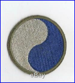 Rare Reversed WW 2 US Army 29th Infantry Division Patch Greenback Inv# C649