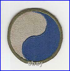 Rare Reversed WW 2 US Army 29th Infantry Division Patch Greenback Inv# M796