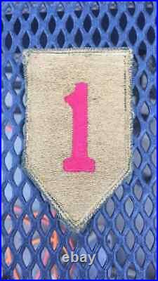 Rare Theater Made WW 2 US Army 1st Infantry Division Black Back Type Patch