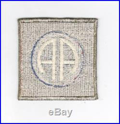 Rare US Made WW 2 US Army 82nd Airborne Division OD Border Patch Inv# C890