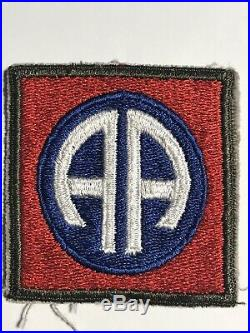 Rare US Made WW 2 US Army 82nd Airborne Division OD Border Patch Inv# Z421