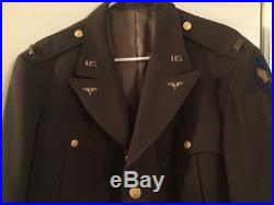 Rare Usaac Us Army Officers Elastic With Bullion Patch Huge Size 48 Short