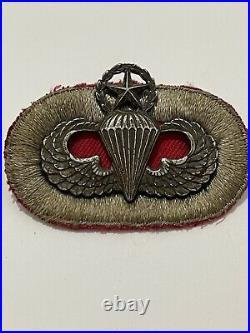Rare Vintage US Army WW2 Lapel Pin Paratrooper Master Jumper & Original Patch