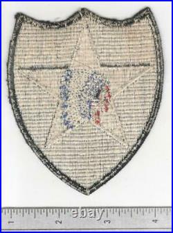Rare WW 2 US Army 2nd Infantry Division Ribbed Weave Gemsco Patch Inv# B014