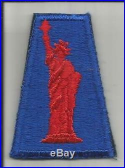 Rare WW 2 US Army 77th Infantry Division Red Miss Liberty Patch Inv# JR556
