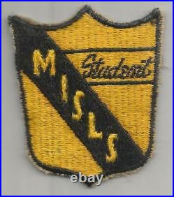 Rare WW 2 US Army Military Intelligence Service Student Patch Inv# A564