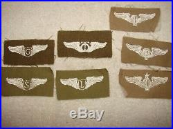 Rare lot of 16 WWII US Army Air Corps Wings Patches Glider, Liaison, Balloon +