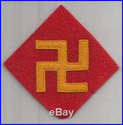 Reversed 1st Design WW 2 US Army 45th Infantry Division Wool Patch Inv# H662