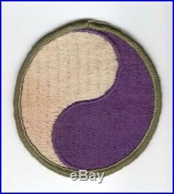 Reversed Merrowed Edge GEMSCO Pre WW 2 US Army 29th Infantry Div Patch Inv# M341